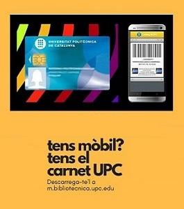 Carnet UPC en el móvil