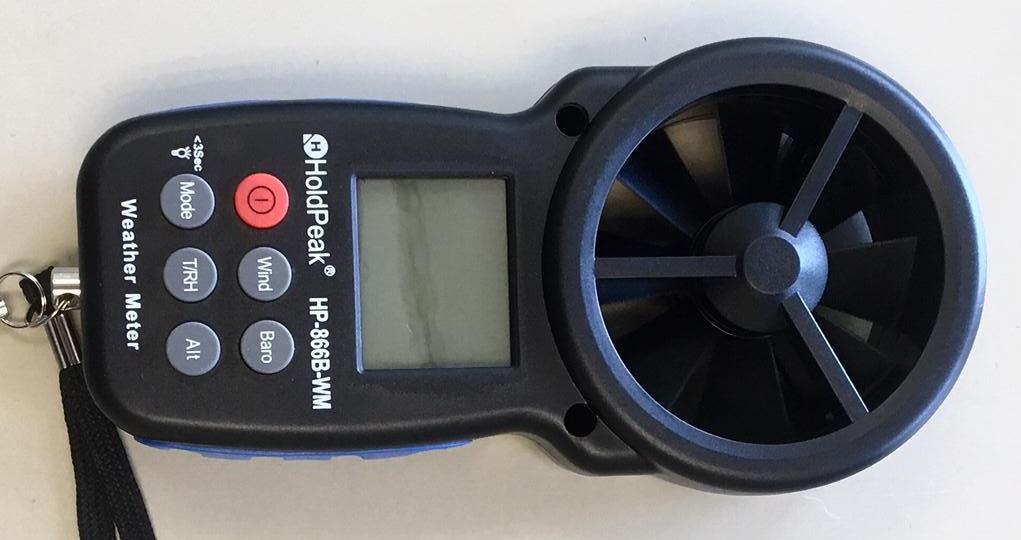 Nuevo equipamiento de medida: anemómetro