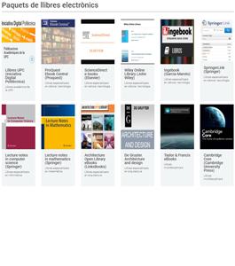 Paquetes de libros electrónicos que puedes consultar desde casa
