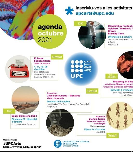UPCArts: agenda d'octubre