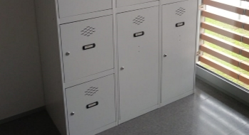 New large lockers for motorcycle helmets and suitcases