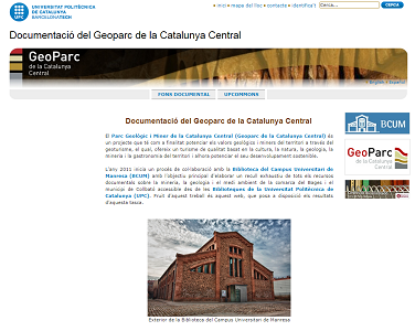 Documentation of the Geopark of Central Catalonia