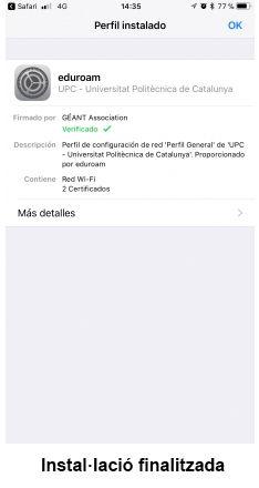 eduroam para iOS - paso 11