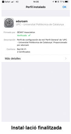 eduroam for iOS - step 11