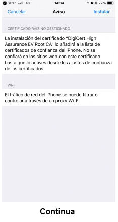 eduroam para iOS - paso 7