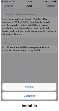 eduroam para iOS - paso 8