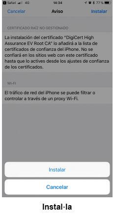 eduroam for iOS - step 8