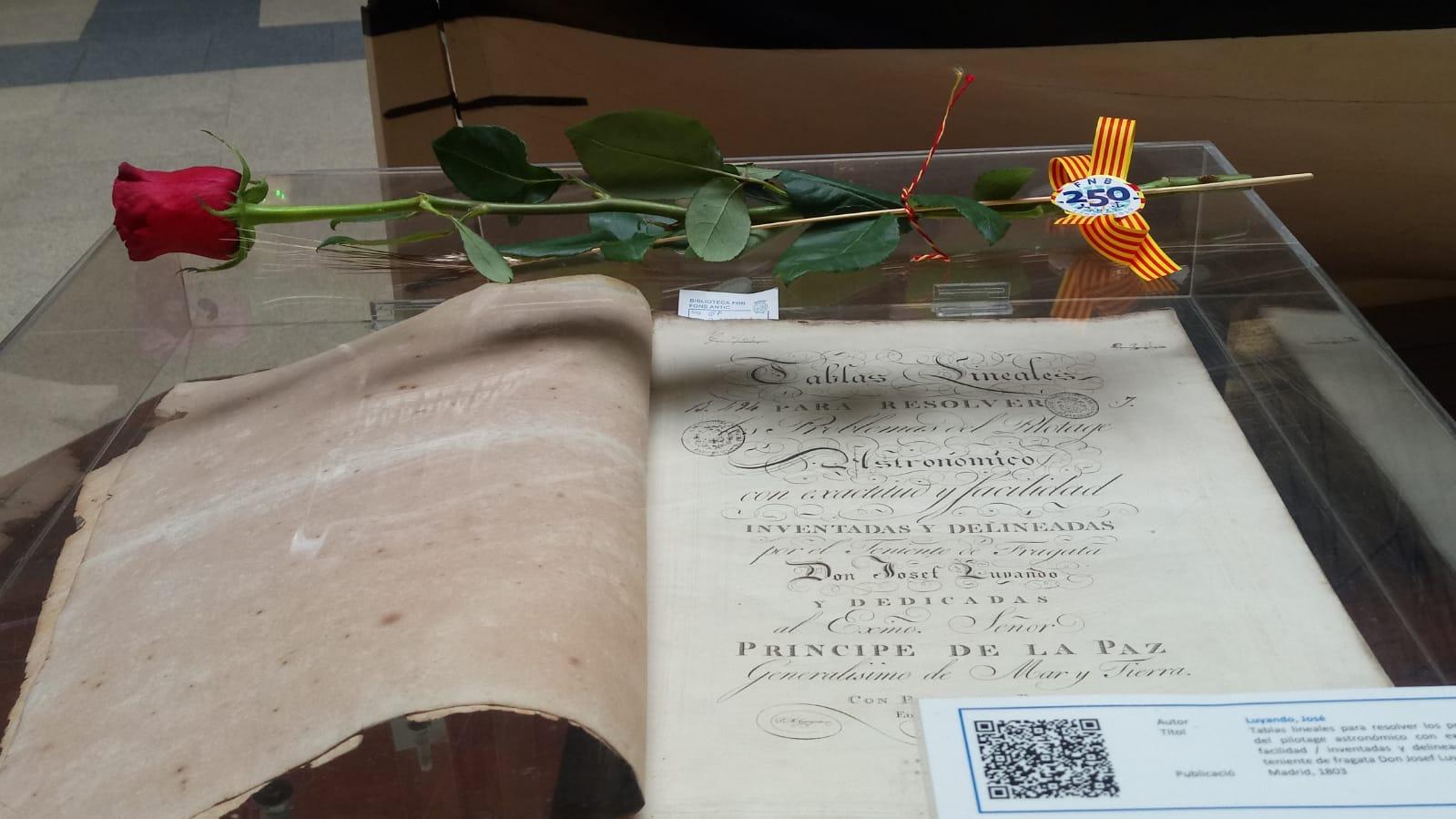 Libro del fondo antiguo de la exposición Un Sant Jordi histórico 2019