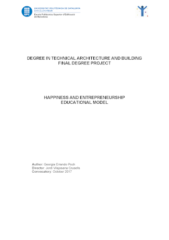 Happiness and entrepreneurship. Educational model