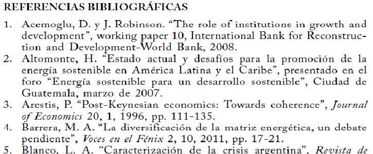 Biliographical references