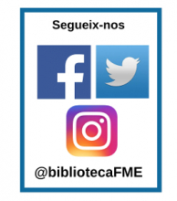 Xarxes socials a la @bibliotecaFME