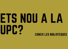 Bienvenidos a las bibliotecas de @la_UPC